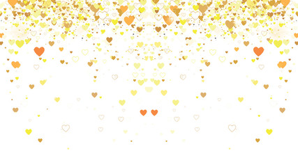 vector background with golden hearts