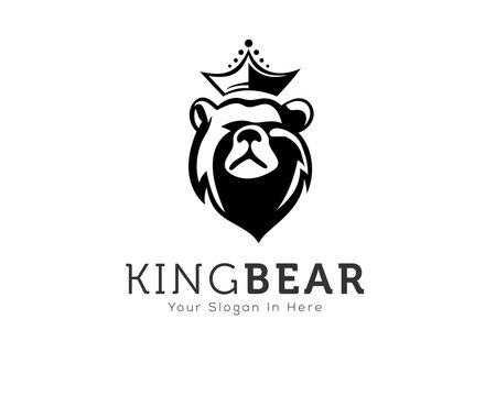 Head bear in square logo design inspiration