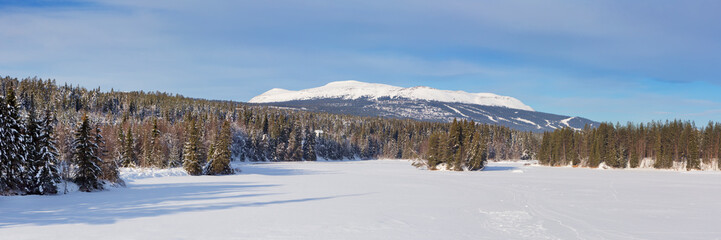 Wall Mural - The mountain of Trysil in Norway in winter