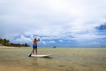 paddle boarding mauritius