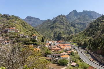 View the pass Boca da Encumeada on Madeira Island. Portugal