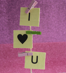 I Love You inscription