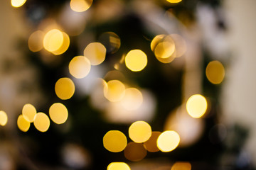 Bokeh lights of New Year.
