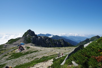 Tuinposter Scandinavië 中岳より宝剣岳を望む