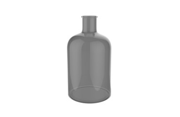 3d illustration of decorative glass bottle isolated on a white background