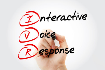 IVR - Interactive Voice Response acronym, business concept with marker