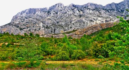 Foto auf Gartenposter Gebirge MONTAGNE SAINTE VICTOIRE