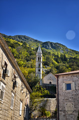 Perast, Montenegro, is a little town on the Bay of Kotor (Boka Kotorska)