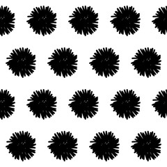 Handmade contrast seamless pattern. Childish craft monochrome wallpaper for birthday card, baby nappy, school party advertising, shop sale poster, holiday wrapping paper, textile, bag print etc.