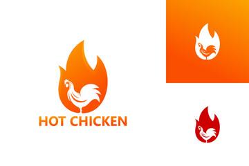 Hot Chicken Logo Template Design Vector, Emblem, Design Concept, Creative Symbol, Icon