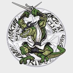 Martial arts crocodile