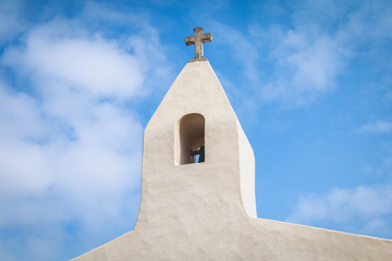 architectural detail of the chapel of La Meule on the island of Yeu