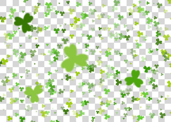 Green clover background transparent vector