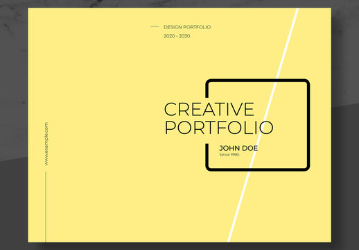 Personal and Agency Portfolio Layout with Yellow Accents