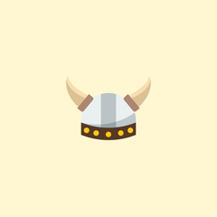 Barbarian icon flat element. Vector illustration of barbarian icon flat isolated on clean background for your web mobile app logo design.