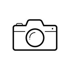 Black line icon for camera