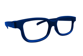 Glasses isolated - blue