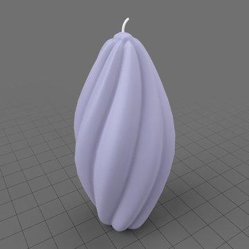 Twisted prolate shape candle