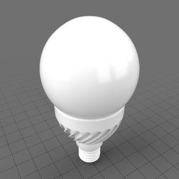 Round twisted LED bulb