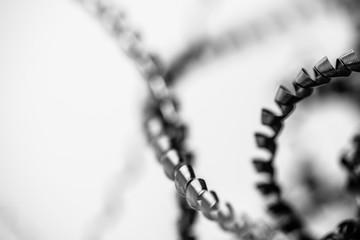metal shavings in the detail - macro picture