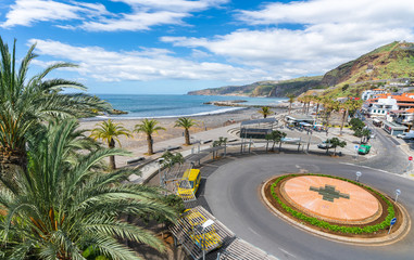 Wall Mural - View on Ribeira Brava town, Madeira island, Portugal