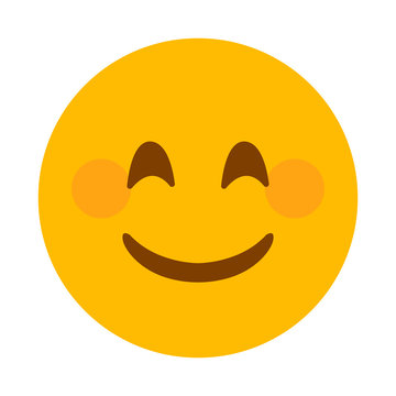 Smiling face vector emoji