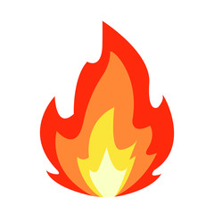 Lit fire emoji vector