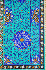 Islamic patterns on Jameh Mosque, Yazd, Iran