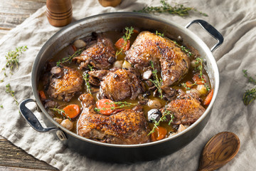 Homemade French Coq Au Vin Chicken