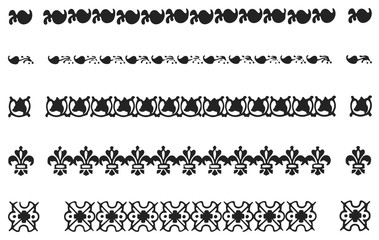 borders and divider set #vector design decoration elements