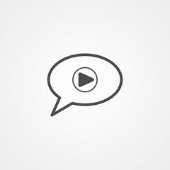 Voice message vector icon sign symbol