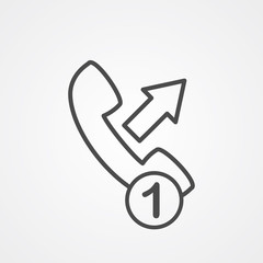 Phone call vector icon sign symbol