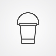 Water bucket vector icon sign symbol