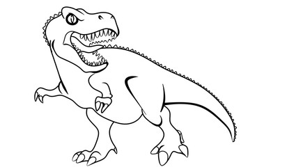 vector illustration of a dino