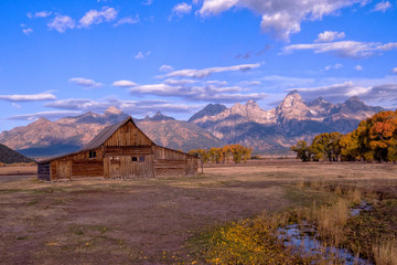 Moulton Barn in Autumn in Grand Teton National Park, Wyoming