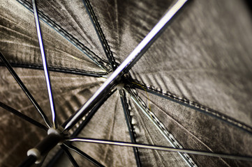 photographic silver umbrella on reflection