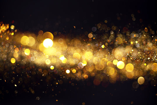Blurred background with yellow lights