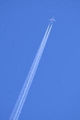 B787と飛行機雲