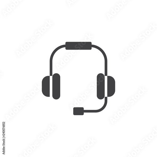 Headset vector icon  filled flat sign for mobile concept and