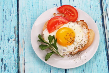 fried eggs  and toast