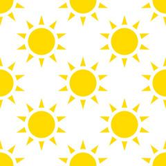 Icon sun, vector. seamless pattern, background.