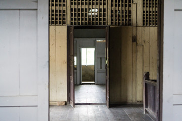 interior of an old house empty space