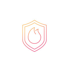 Fire protection icon, line vector