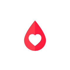 blood donation icon with heart
