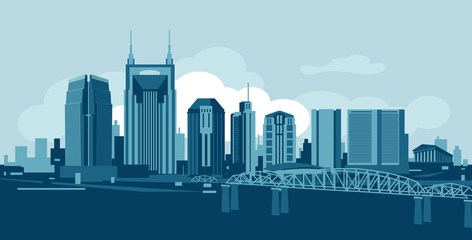 Wall Mural - Nashvile Tennessee skyline