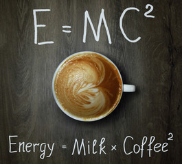Cup of coffee with formula 2