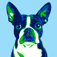 Foto op Aluminium Pop Art illustration of a dog in the style of pop art