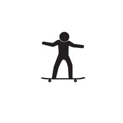 Skateboarding sign, vector illustration.