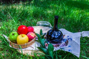 Fruits in a wicker basket