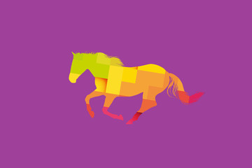 Abstract Geometric Horse Illustration